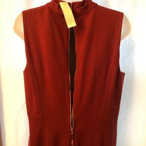 White House Black Market burgundy Sheath dress
